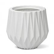 Vaso Origami Redondo 30 cor Branco 30cm x 27,5cm