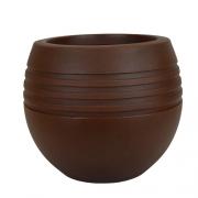 Vaso Oval Jateado Vogue cor Ferrugem 26,5cm x 24cm - OVPM-FE