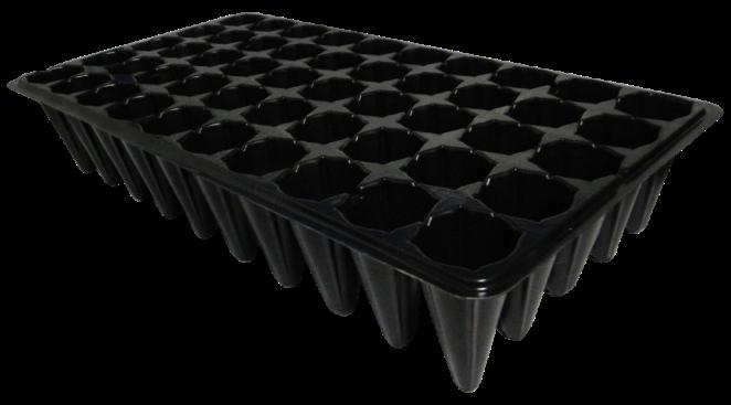 Kit com 10 Bandejas para mudas - 50 células - espessura 0,70mm