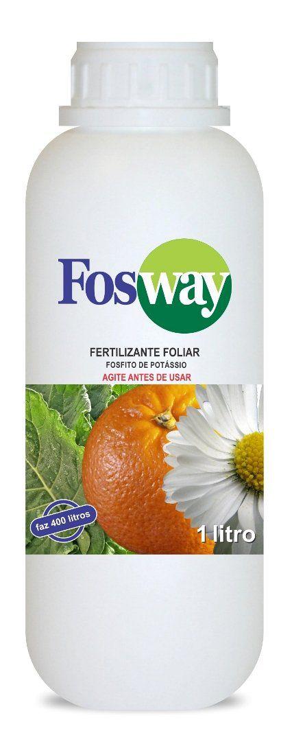 Fertilizante Forth Fosway 1 litro concentrado Fosfito de Potássio faz 400 litros