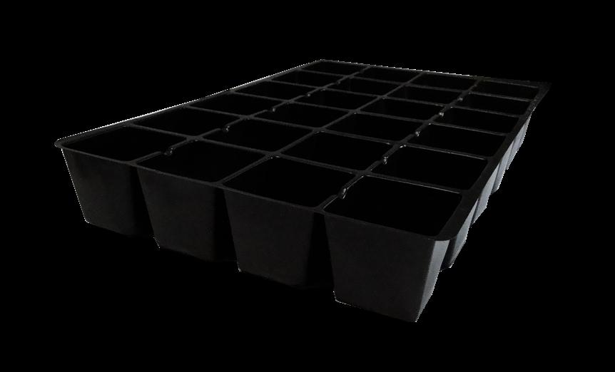 Kit com 10 Bandejas para mudas - 24 células - espessura 0,55mm