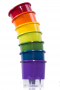 Kit 7 Vasos Autoirrigáveis MÉDIOS N03 Arco-íris