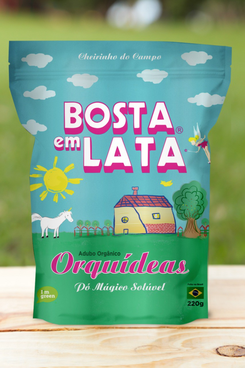 Adubo Orgânico Bosta em Lata para Orquídeas 220g Embalagem Zip