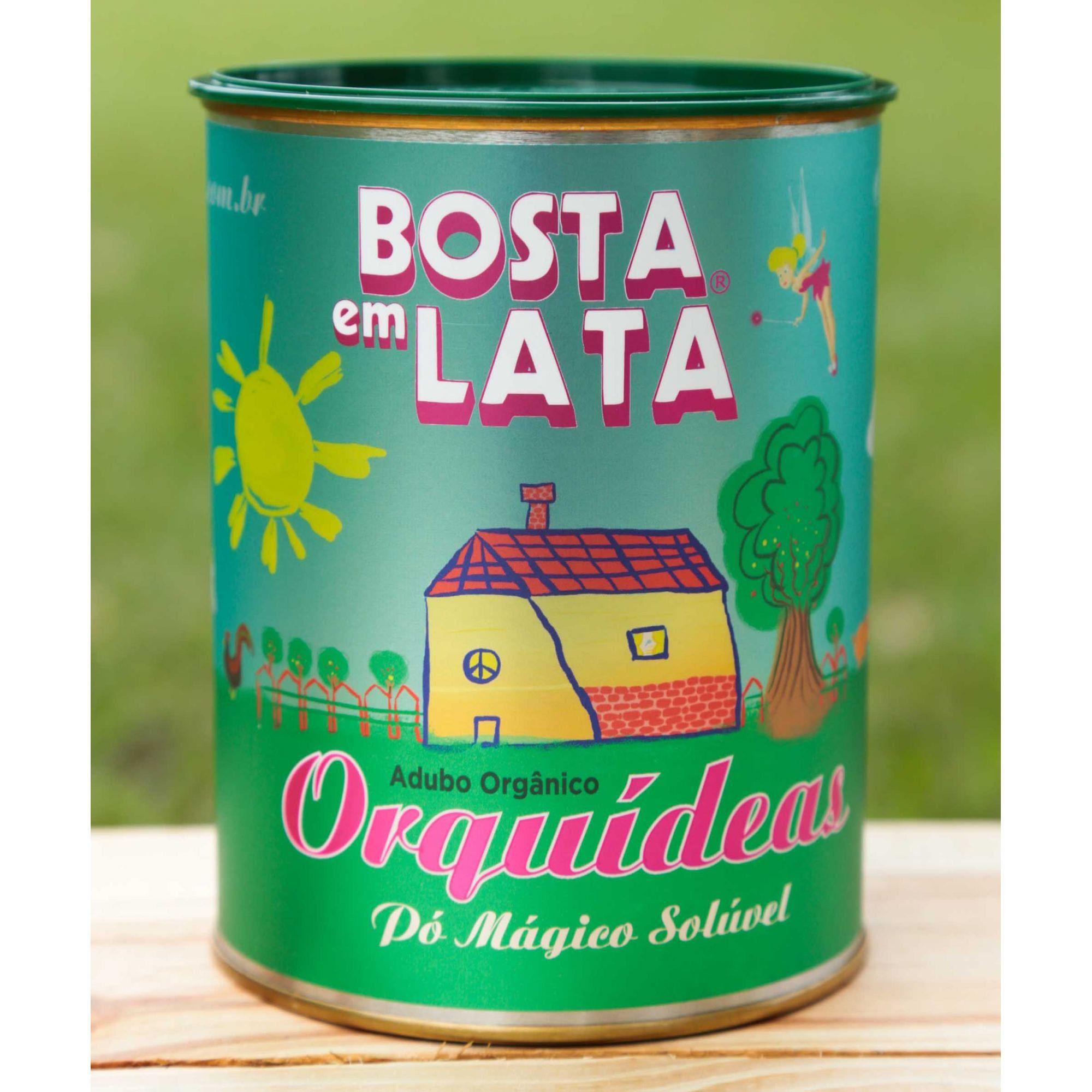 Adubo Orgânico Bosta em Lata para Orquídeas 400g