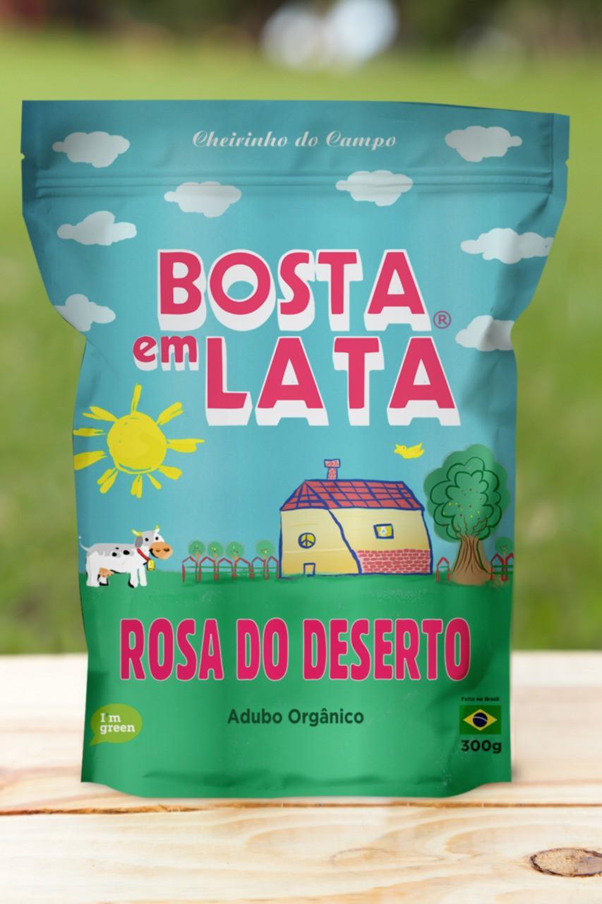 Adubo Orgânico Bosta em Lata para Rosa do Deserto 300g Embalagem Zip
