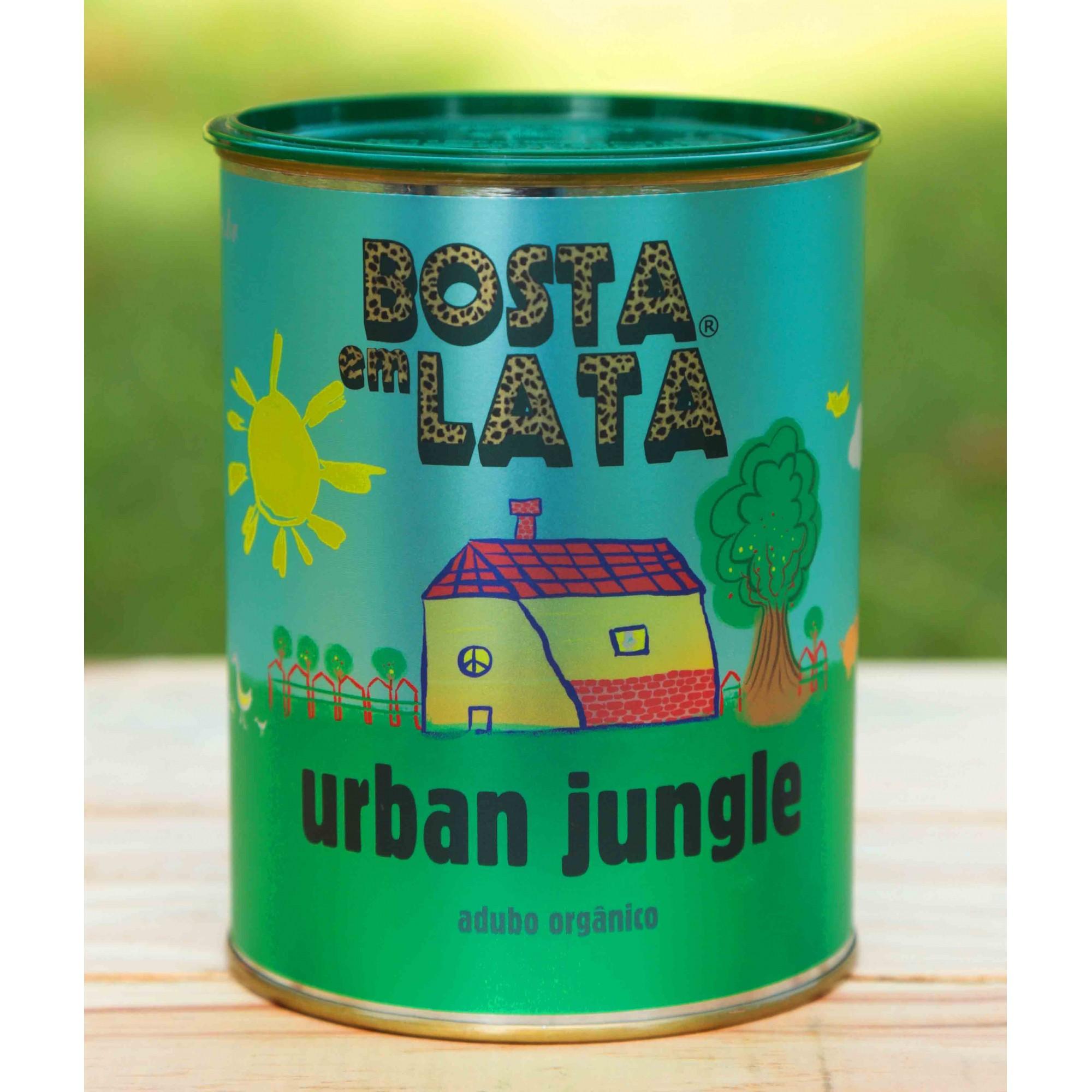 Adubo Orgânico Bosta em Lata Urban Jungle 500g