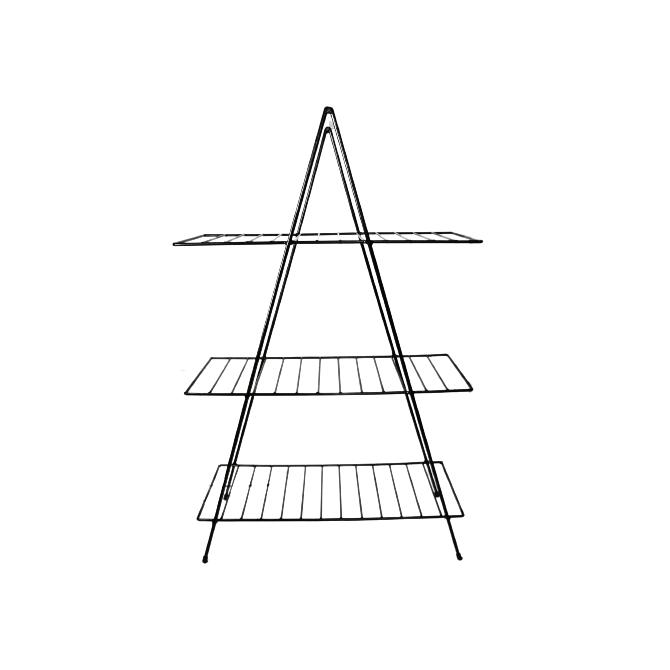 Aparador de Ferro Triangular Estilo Industrial com 3 Andares 95cm x 60cm