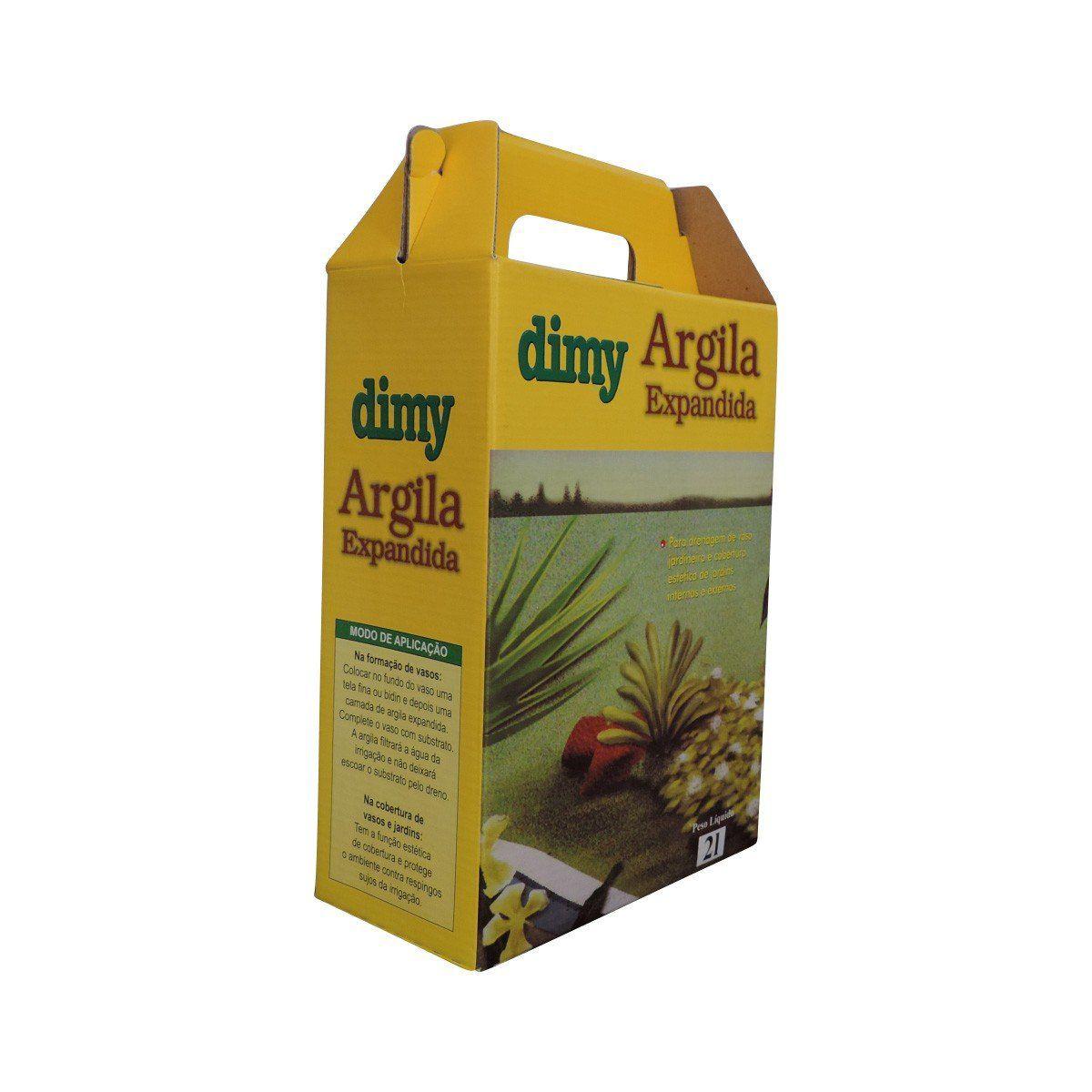 Argila Expandida 2 litros Dimy