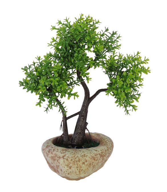 Árvore Bonsai artificial Verde com Vaso 20cm - 36661001