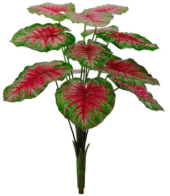 Árvore caladium real toque artificial 90 cm - 31928004