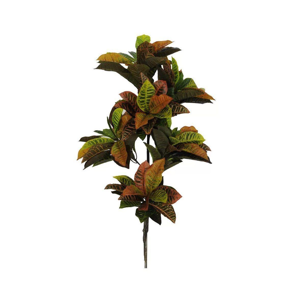 Árvore Croton Real Artificial Vermelho e Verde com 95cm - 17873001