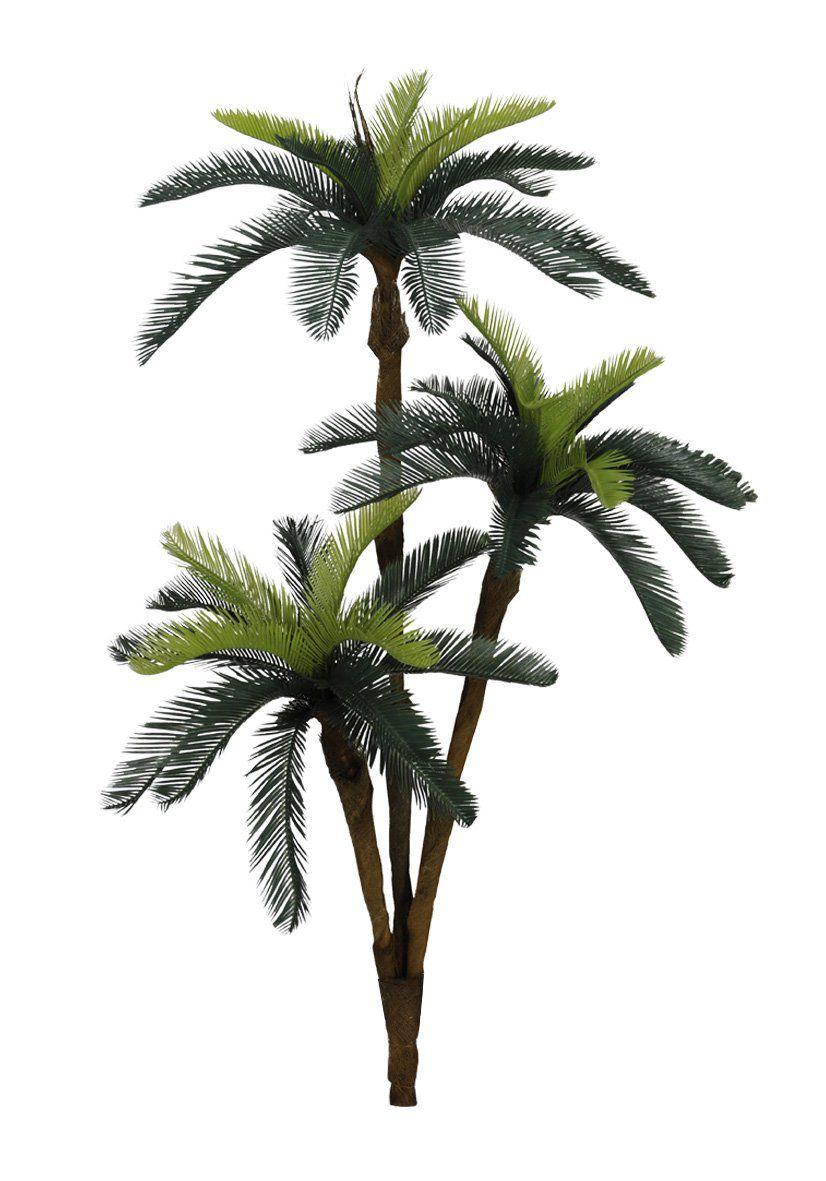 Árvore Palmeira Cycas artificial X44 verde 1,77m 12955001