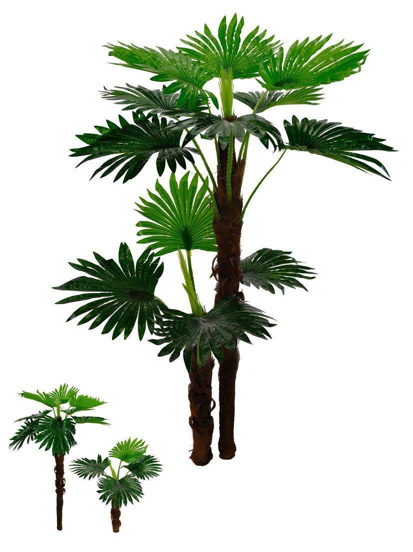 Árvore Palmeira Leque Real Toque artificial X12 Verde 1,4m - 31937001