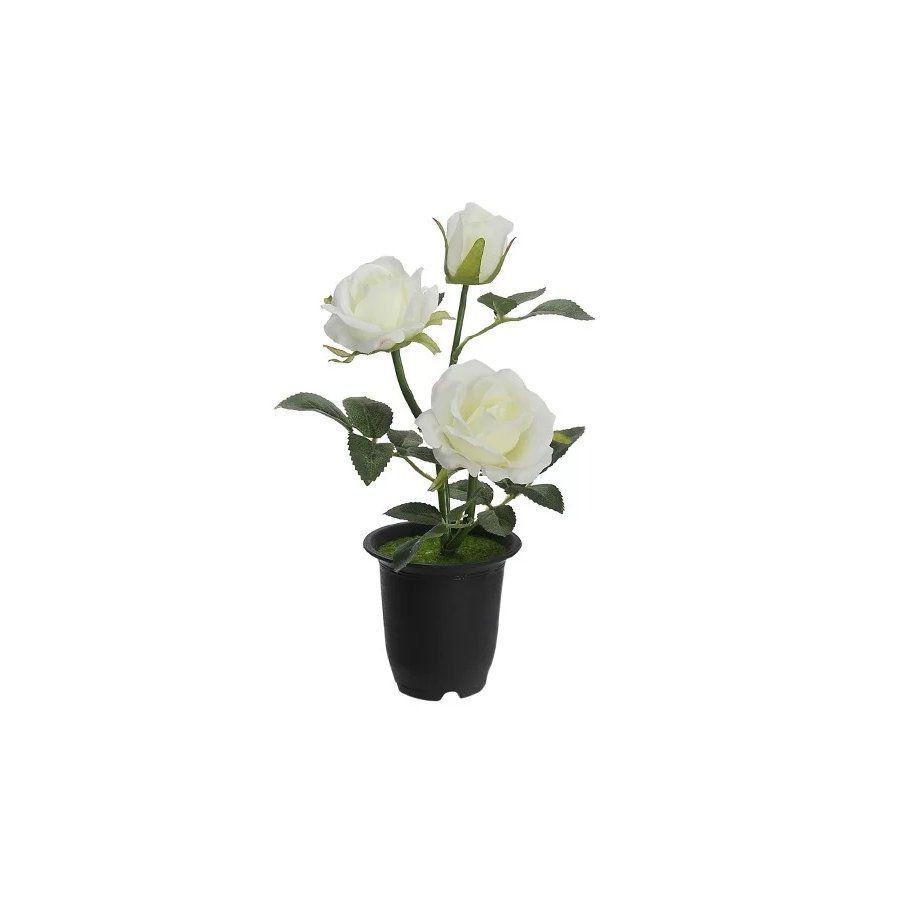 Árvore Roseira artificial com pote X3 Branca 23cm - 34603001