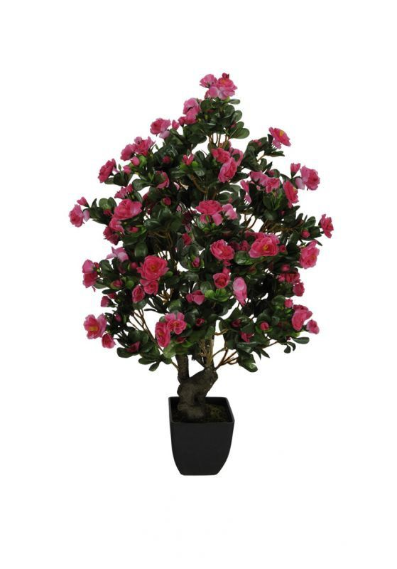 88f442107 Azaleia Rosa Artificial 76cm com Vaso 29556001 - Plantei Garden Center