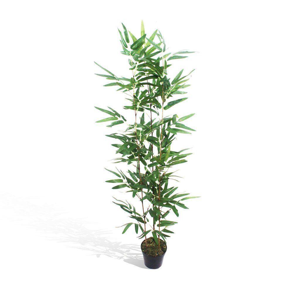 Bambu Aurea semi-artificial Verde com vaso 90cm