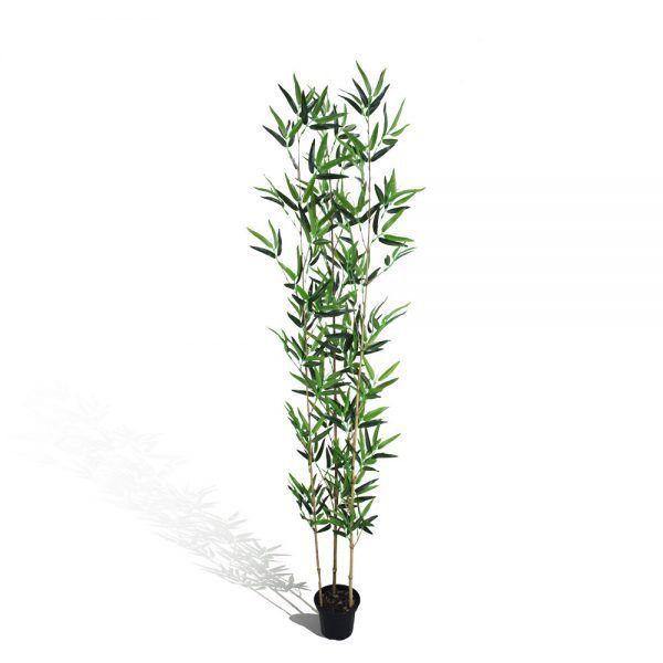 Bambu Aurea Verde semi-artificial 1,5m com Vaso