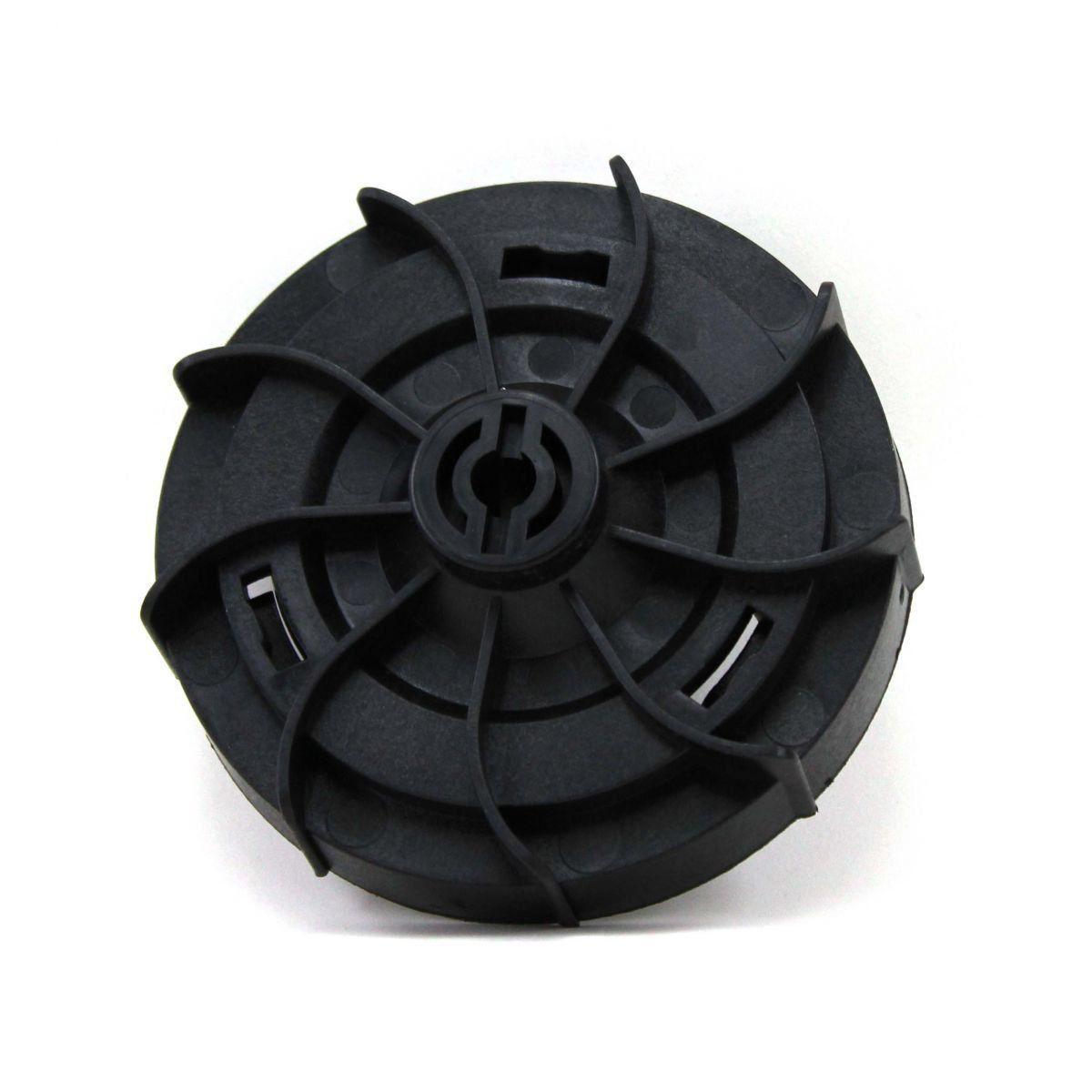 Base Plástica para Carretel dos aparadores de grama elétricos Trapp master 500, 700, 800, 1000L, 1000 TURBO e Super 800, 1000, 1000 TURBO