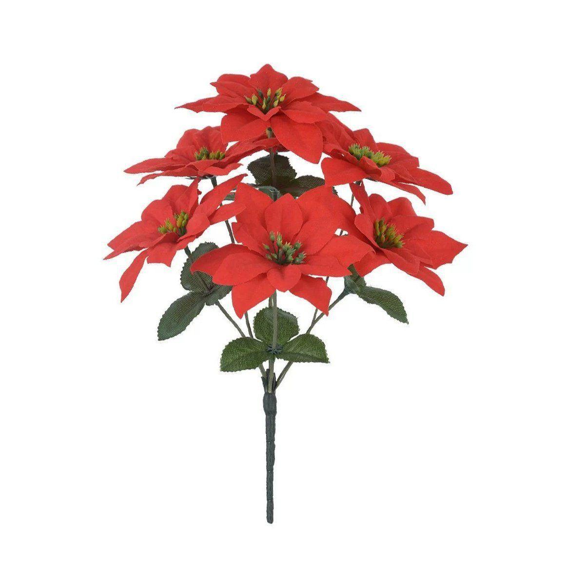 Buquê artificial Bico de Papagaio X7 Vermelho 35cm - 20338001
