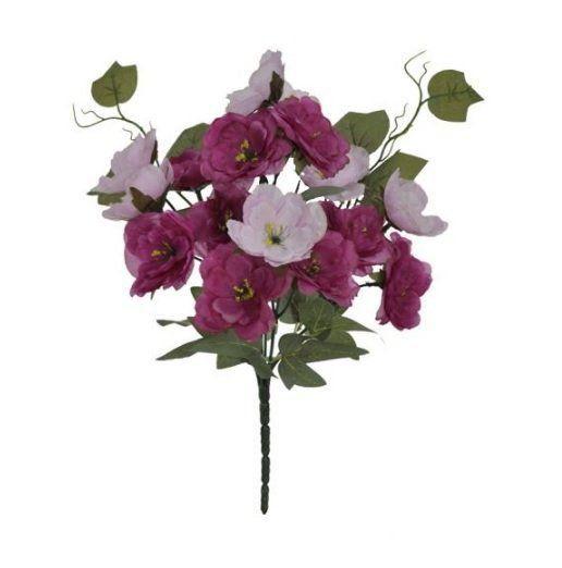 Buquê artificial Peônia X17 28cm Rosa - 26714001