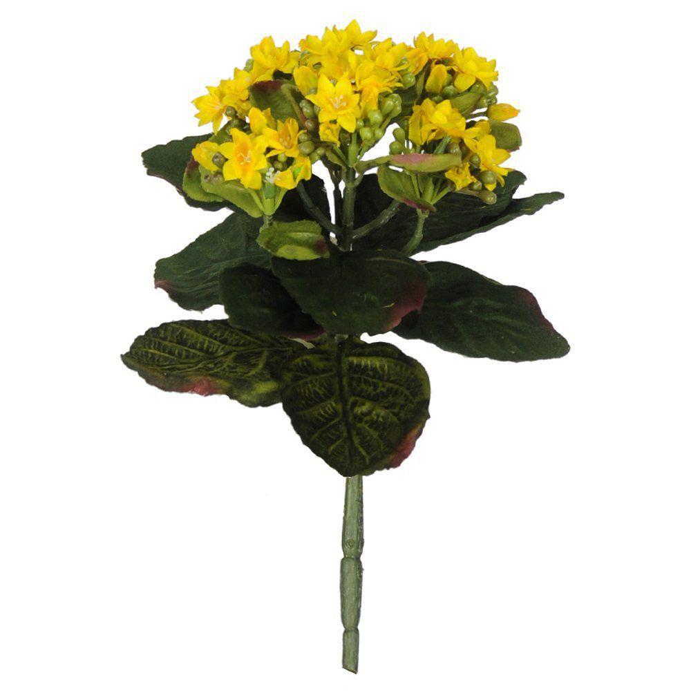 Buquê Kalanchoe Amarelo Artificial 22,5cm - 38984002