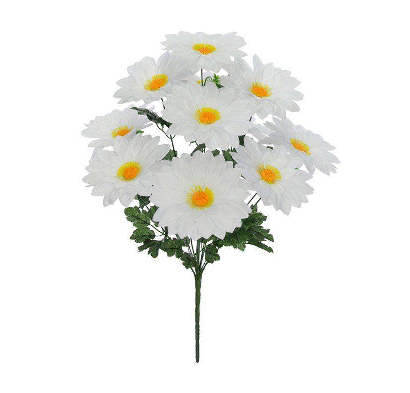 Buquê Margarida X11 artificial Branco 52 cm 34609003