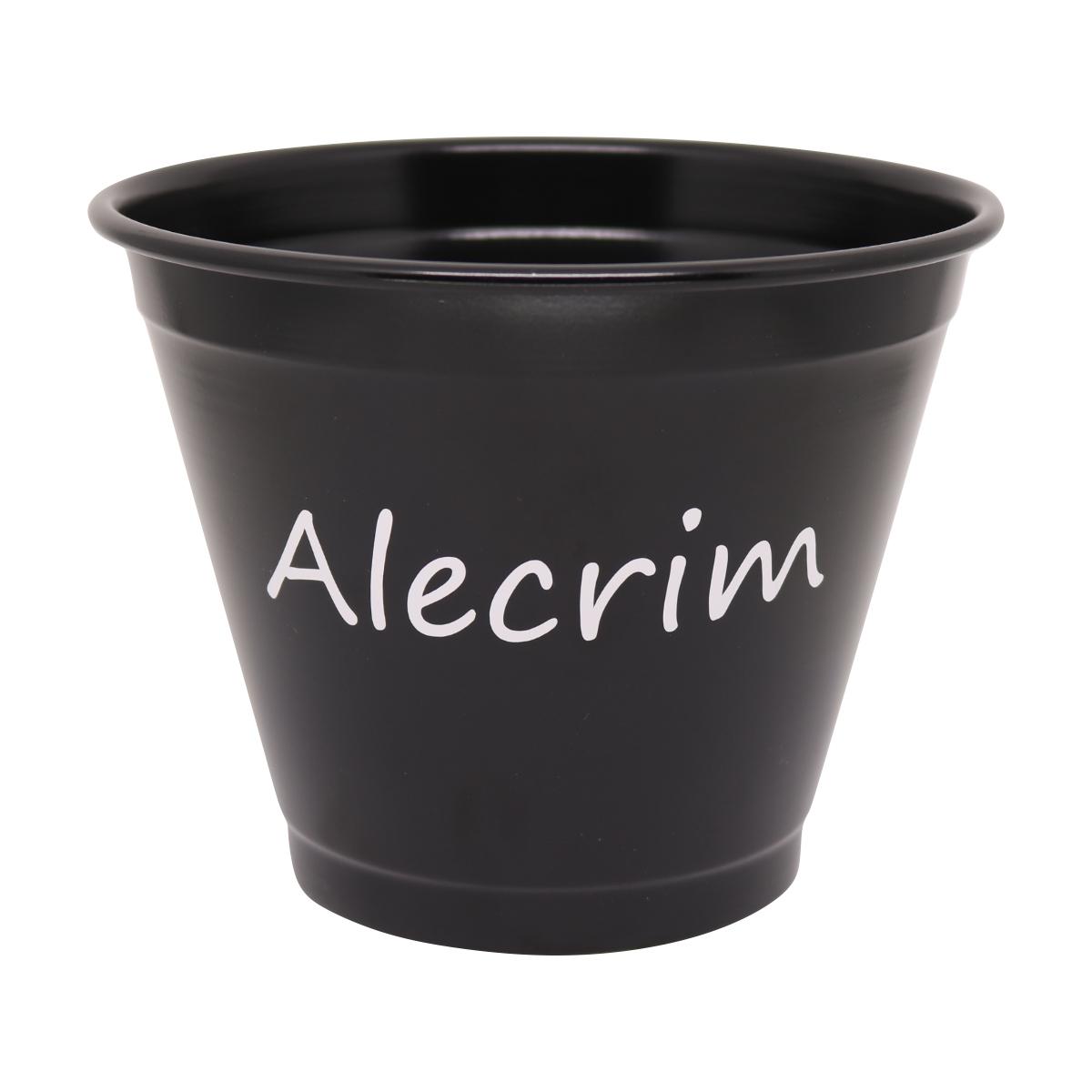 Cachepô de Alumínio Preto N17 Alecrim 13,5cm x 17cm