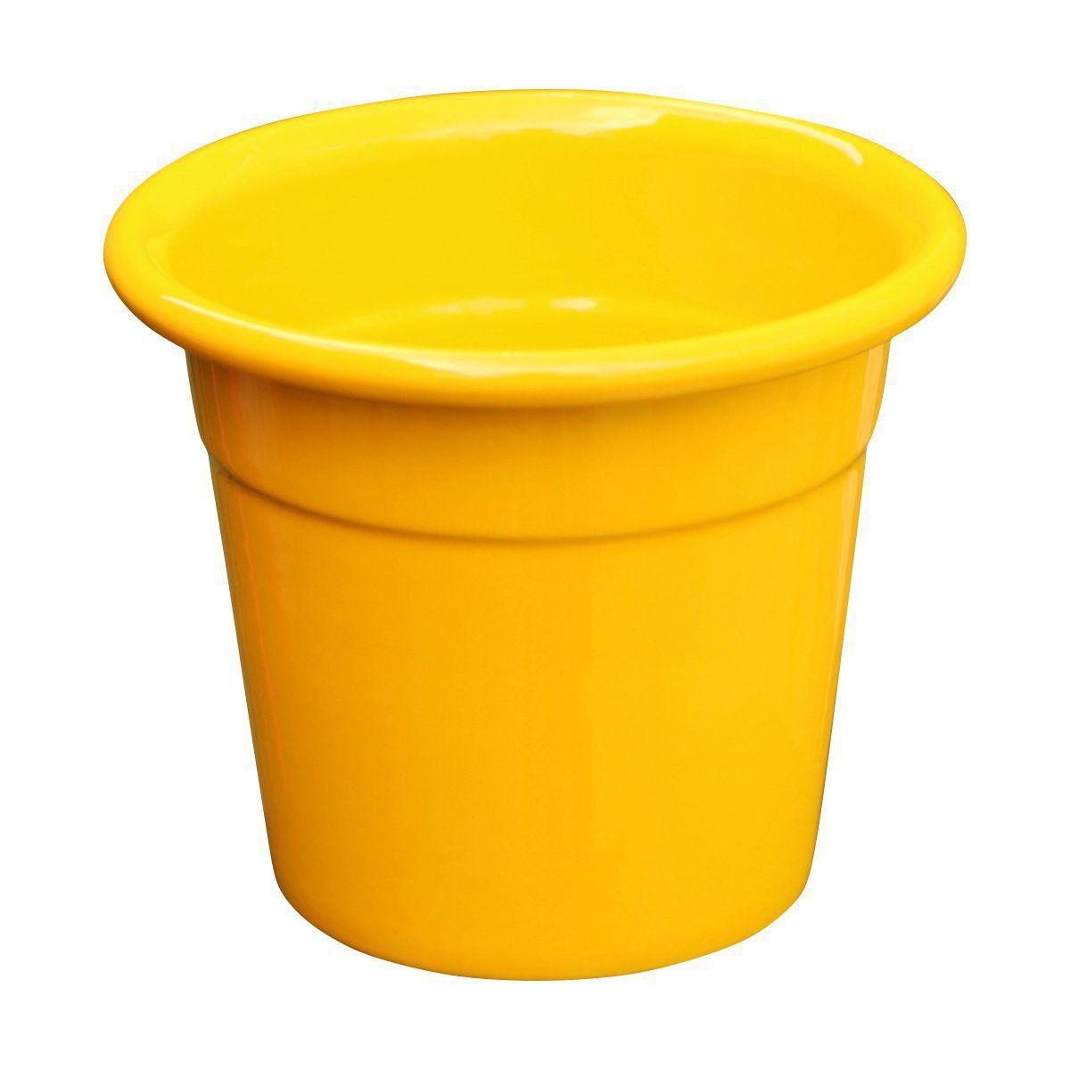 Cachepô de Alumínio Soleil Nº 8 Amarelo 7,5cm x 9cm