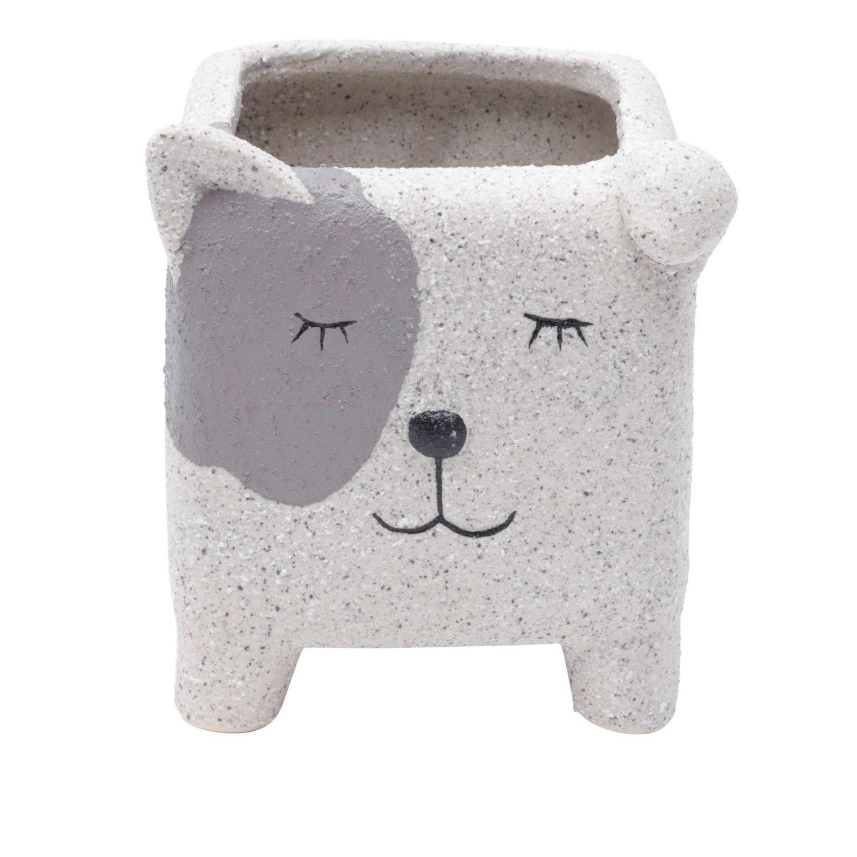 Cachepô de Cerâmica Cachorro Dorminhoco 10cm x 8cm - 44182