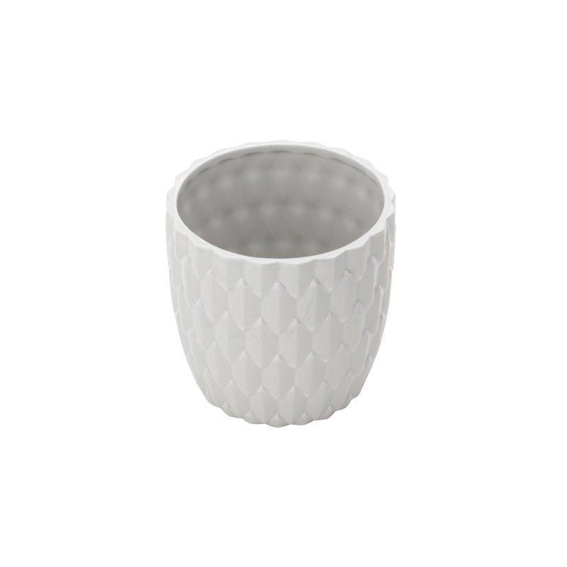 Cachepô de Cerâmica Colmeia Cinza 7,5cm x 7cm - 41316