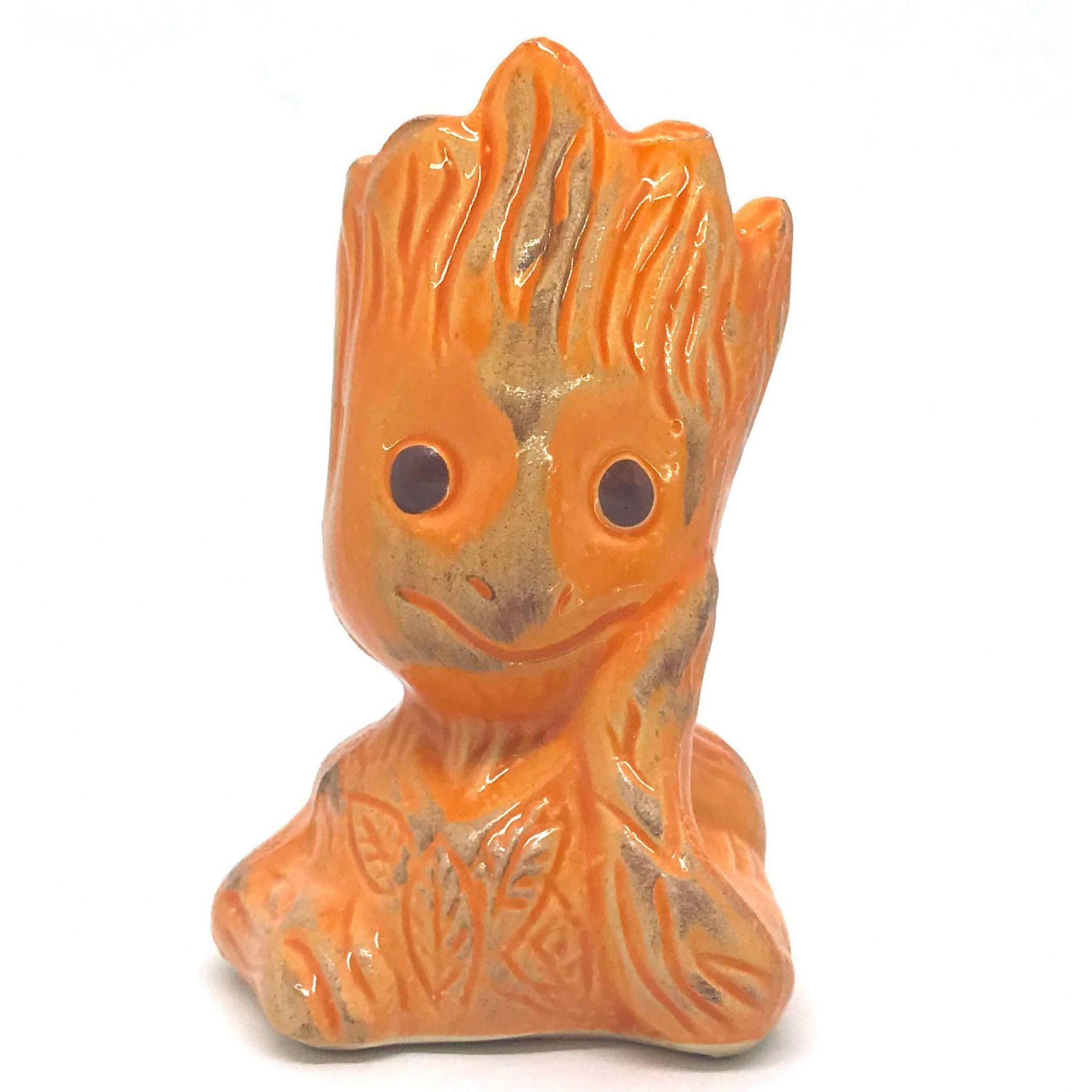 Vaso de Cerâmica Groot Laranja 12cm x 5,5cm