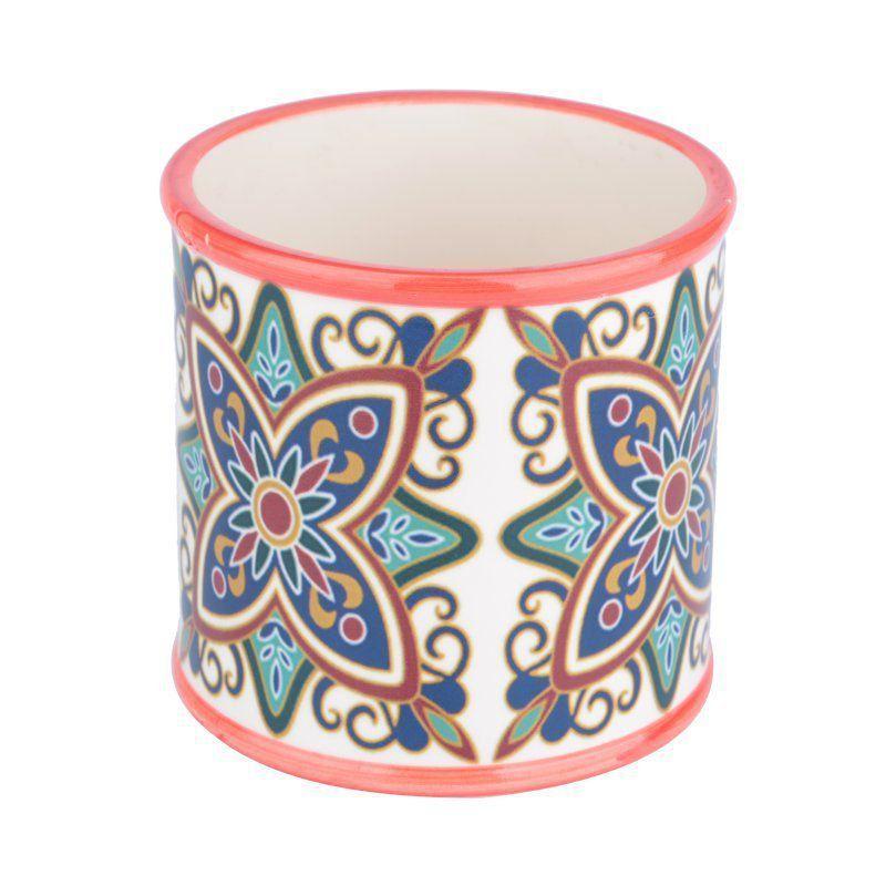 Cachepô de Cerâmica Redondo Vermelho 12,5cm x 13cm - 40420
