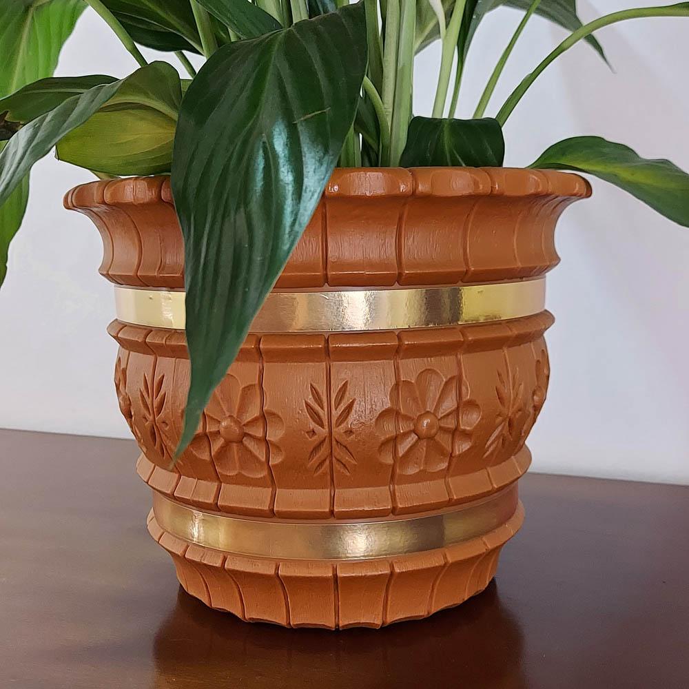 Cachepô Decorativo 19cm x 24cm cor Imbuia