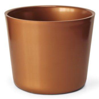 Cachepô Elegance Redondo 02 Dourado - 10,0 altura x 12,3 largura
