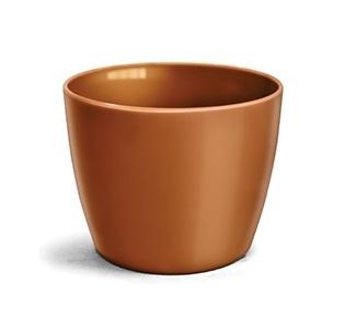 Cachepô Elegance Redondo 03 Dourado - 11,2 altura x 14,7 largura