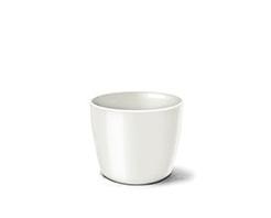 Cachepô Elegance Redondo Mini 5,5cm x 6,5cm Branco