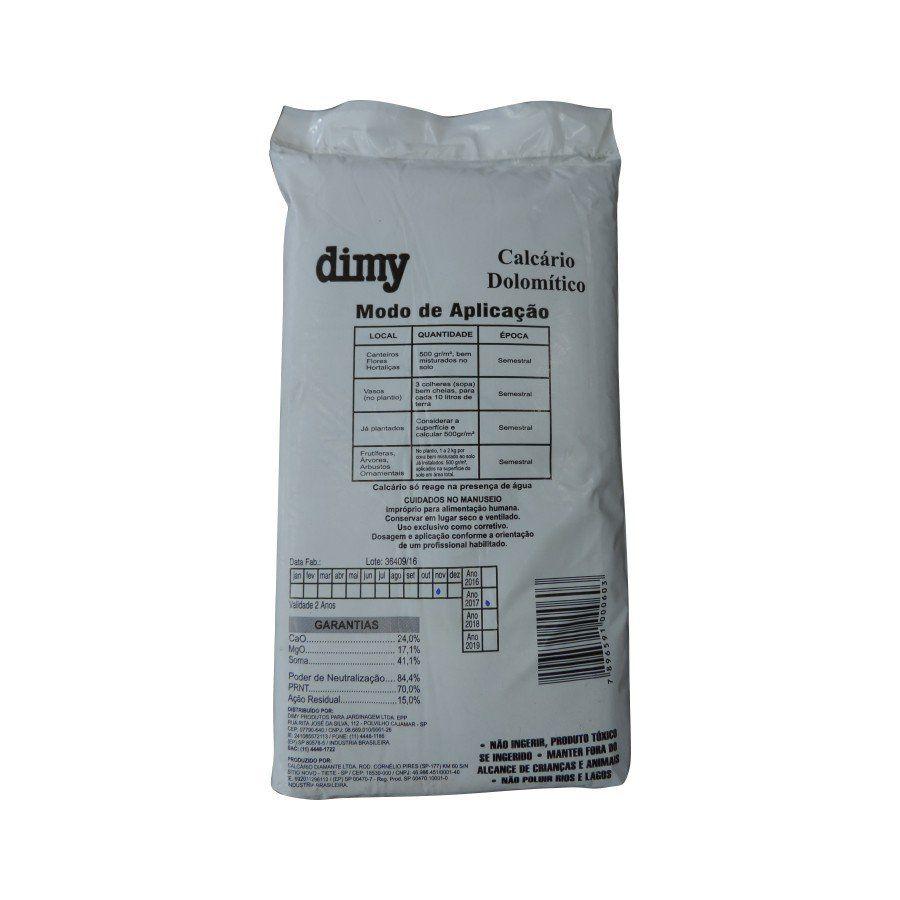 Calcário Dolomítico Corretivo de Solo 3kg Dimy