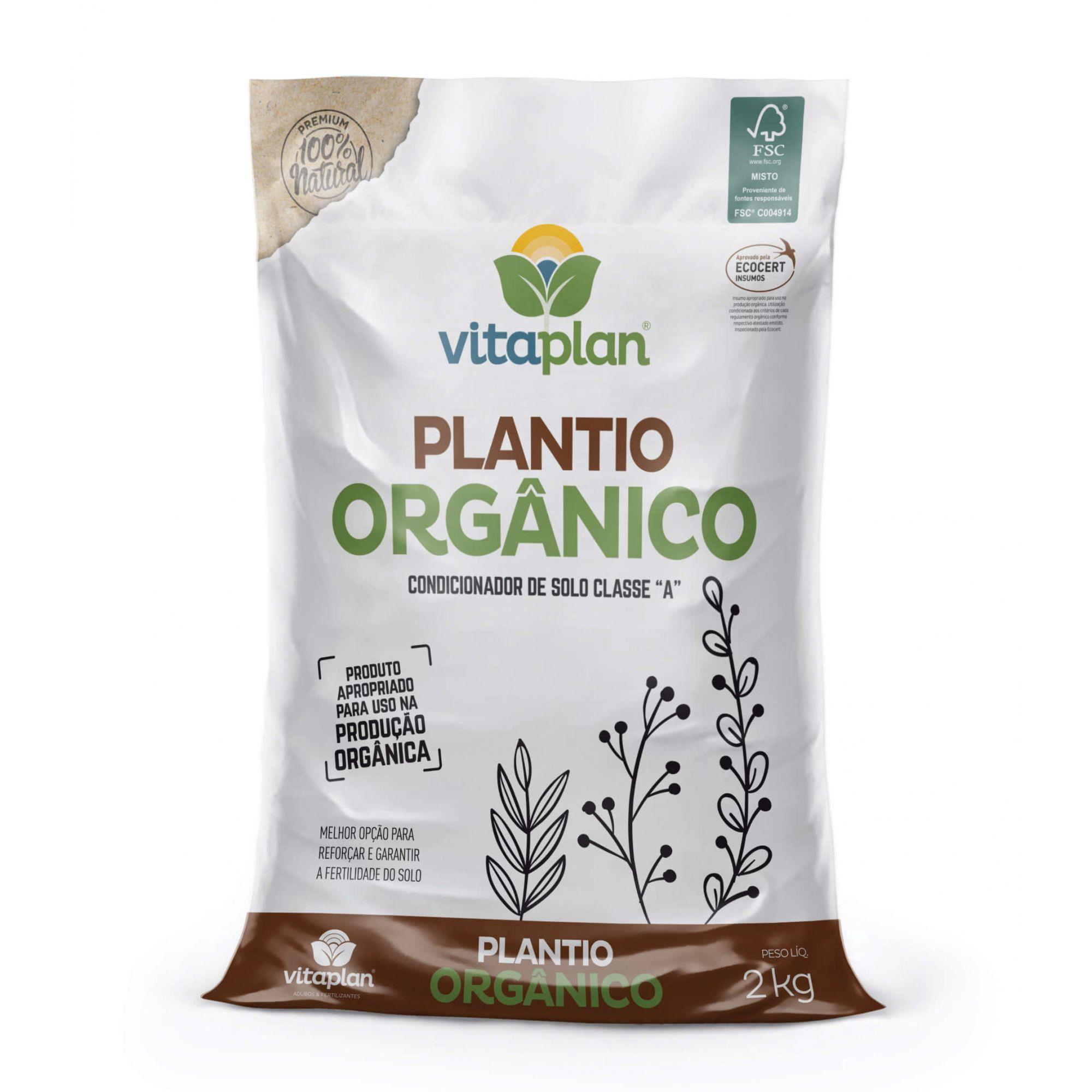 Condicionador de Solo para Plantio Orgânico 2kg - Vitaplan