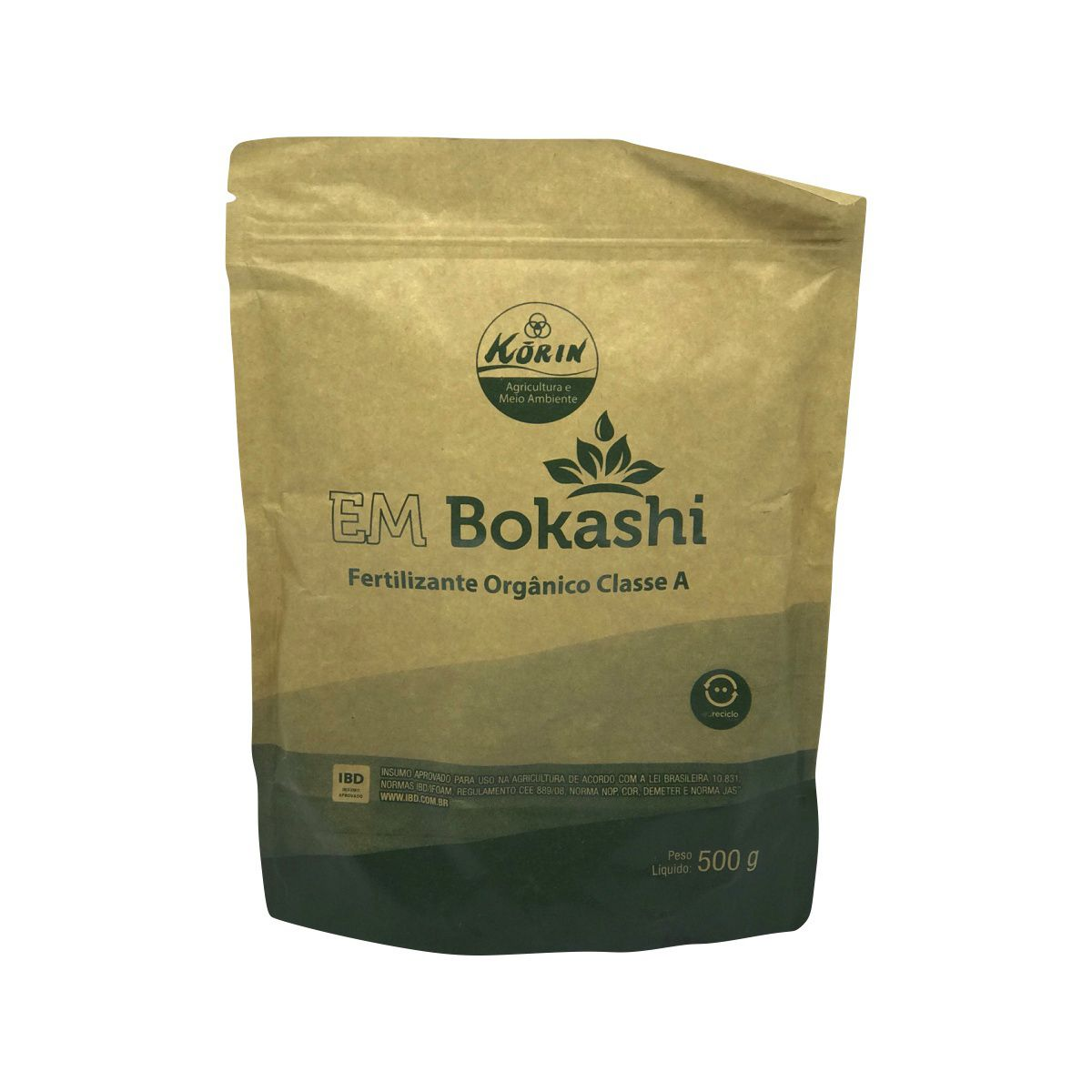 EM Bokashi Fertilizante Orgânico Classe A 500g - Korin