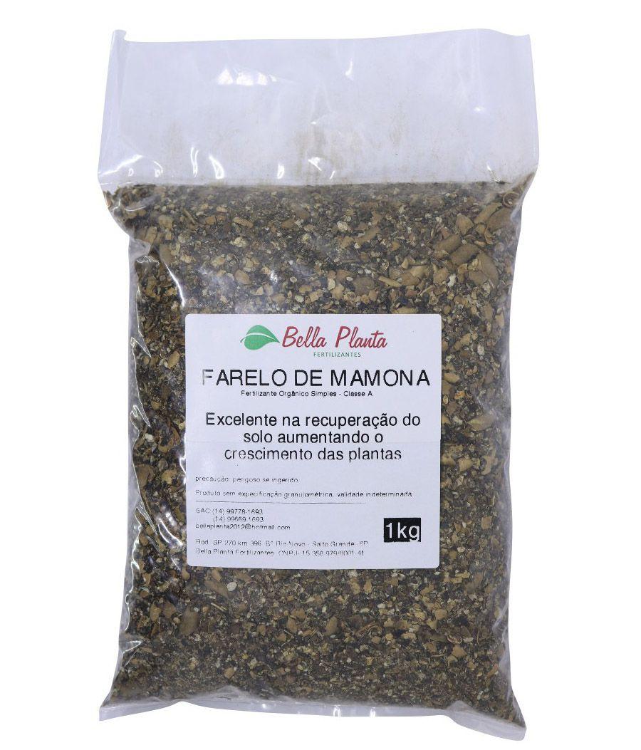 Farelo de Mamona 1kg - Bella Planta