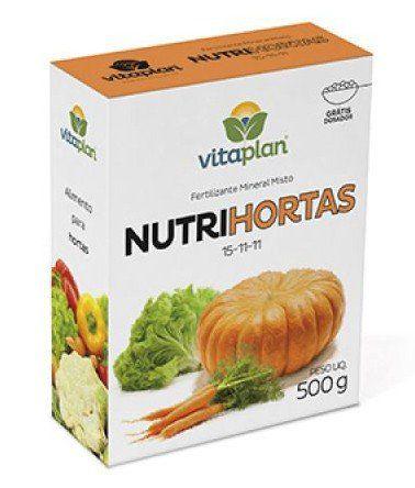 Fertilizante Mineral Misto 15-11-11 Nutrihortas  500gr  Vitaplan