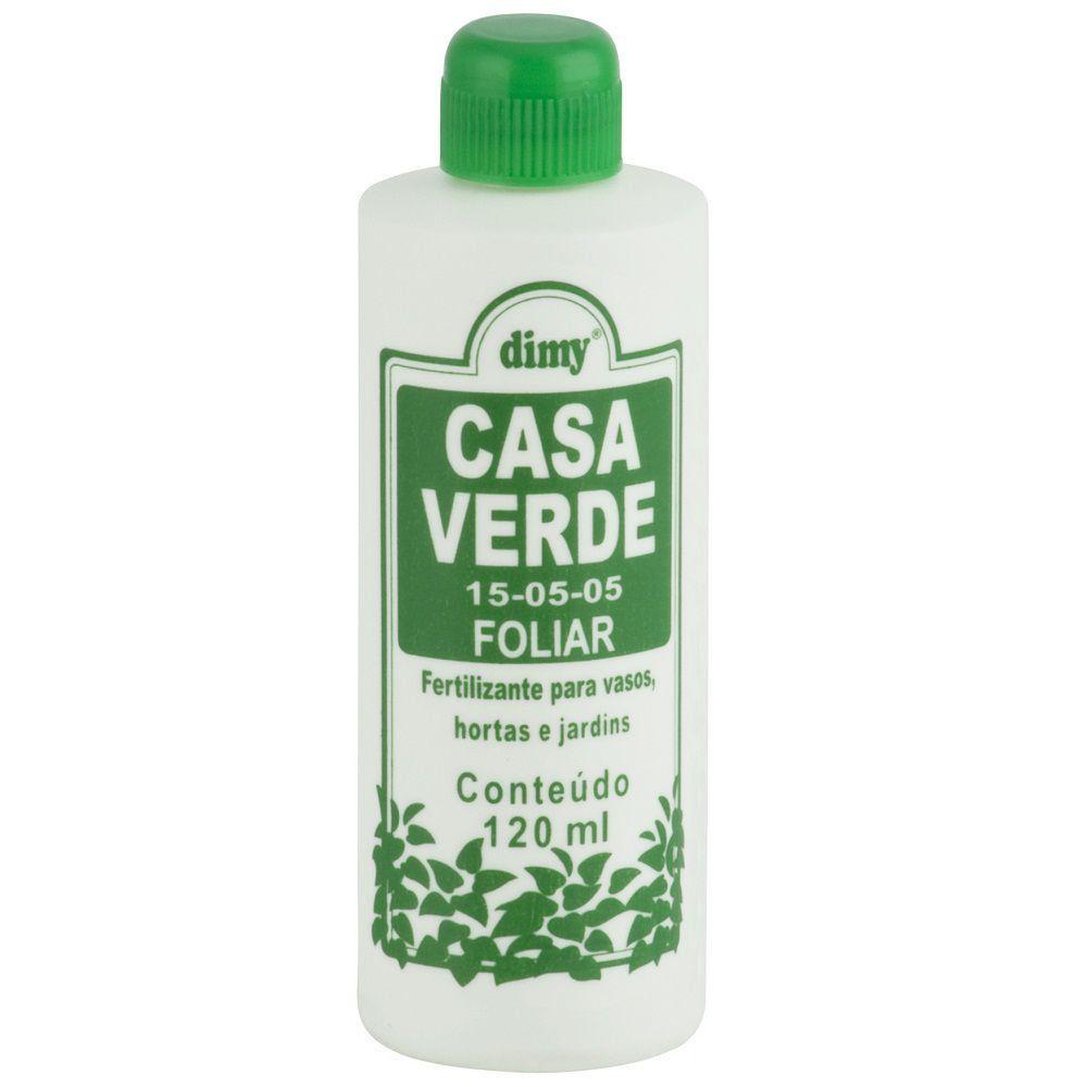 Fertilizante Foliar Casa Verde 15-05-05 120ml Concentrado Dimy