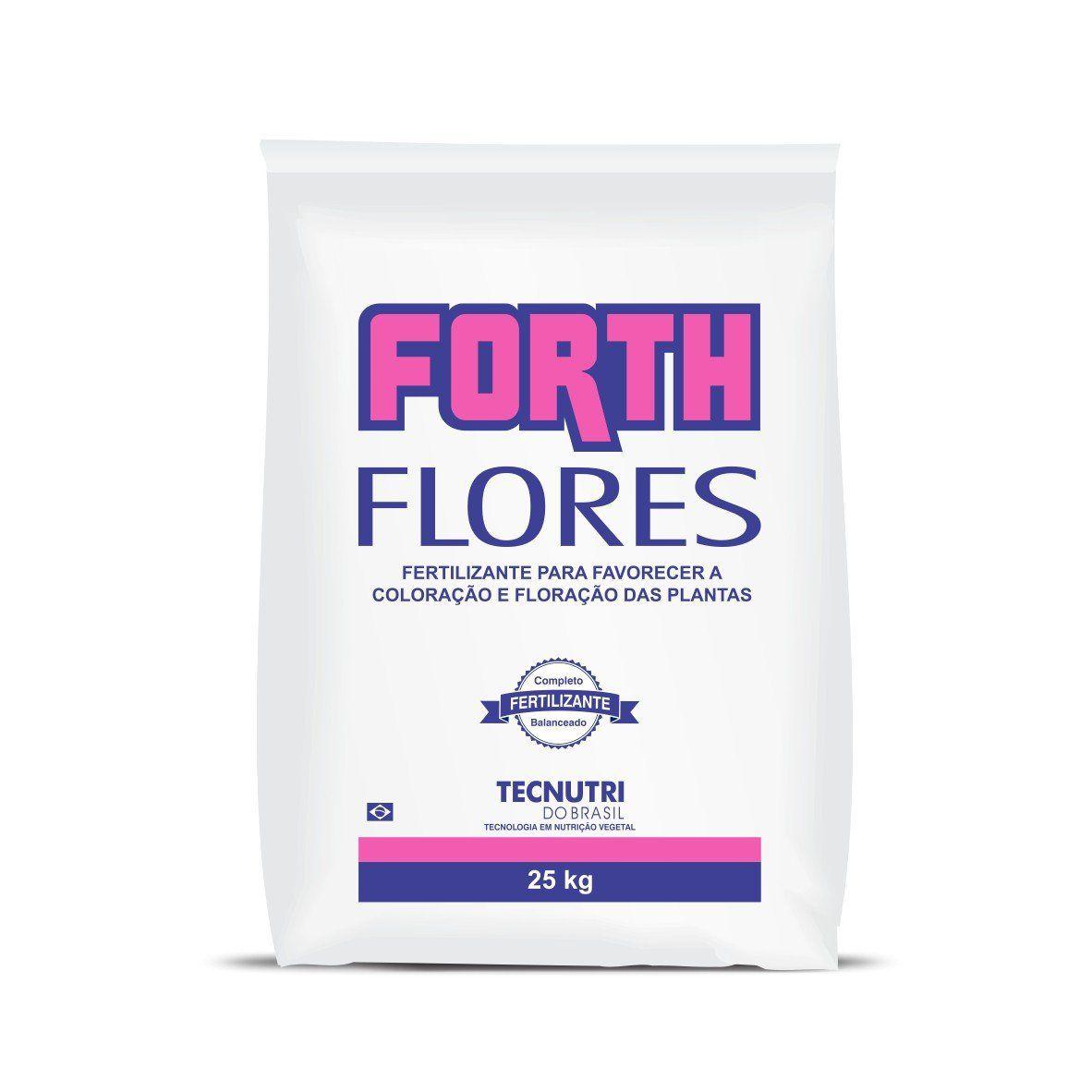 Fertilizante Forth Flores 25kg para Coloração e Floração