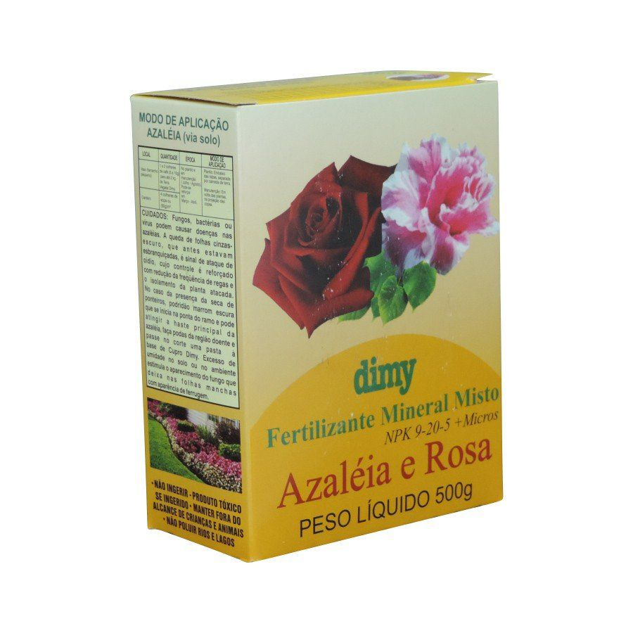 Fertilizante Mineral Misto 9-20-5 Azaléia e Rosa 500g Dimy