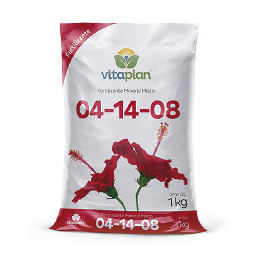 Fertilizante Mineral Misto NPK 04-14-08 Vitaplan Pacote com 1kg