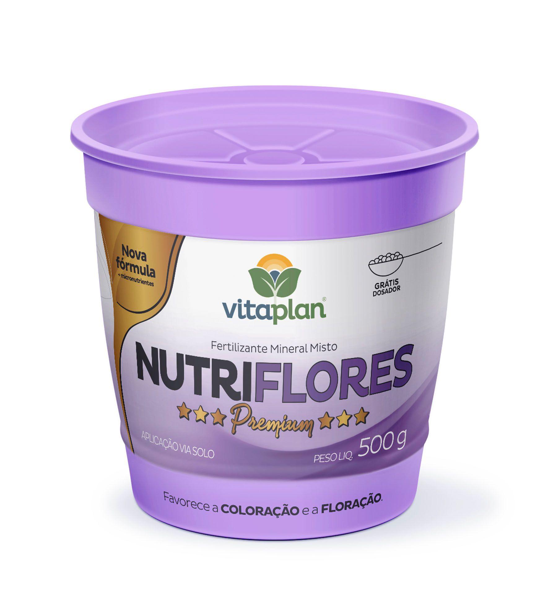 Fertilizante Mineral Misto Nutriflores 500g - Vitaplan Premium