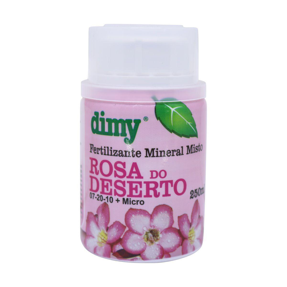 Fertilizante Mineral Misto para Rosa do Deserto Dimy 07-20-10   Micro 250ml