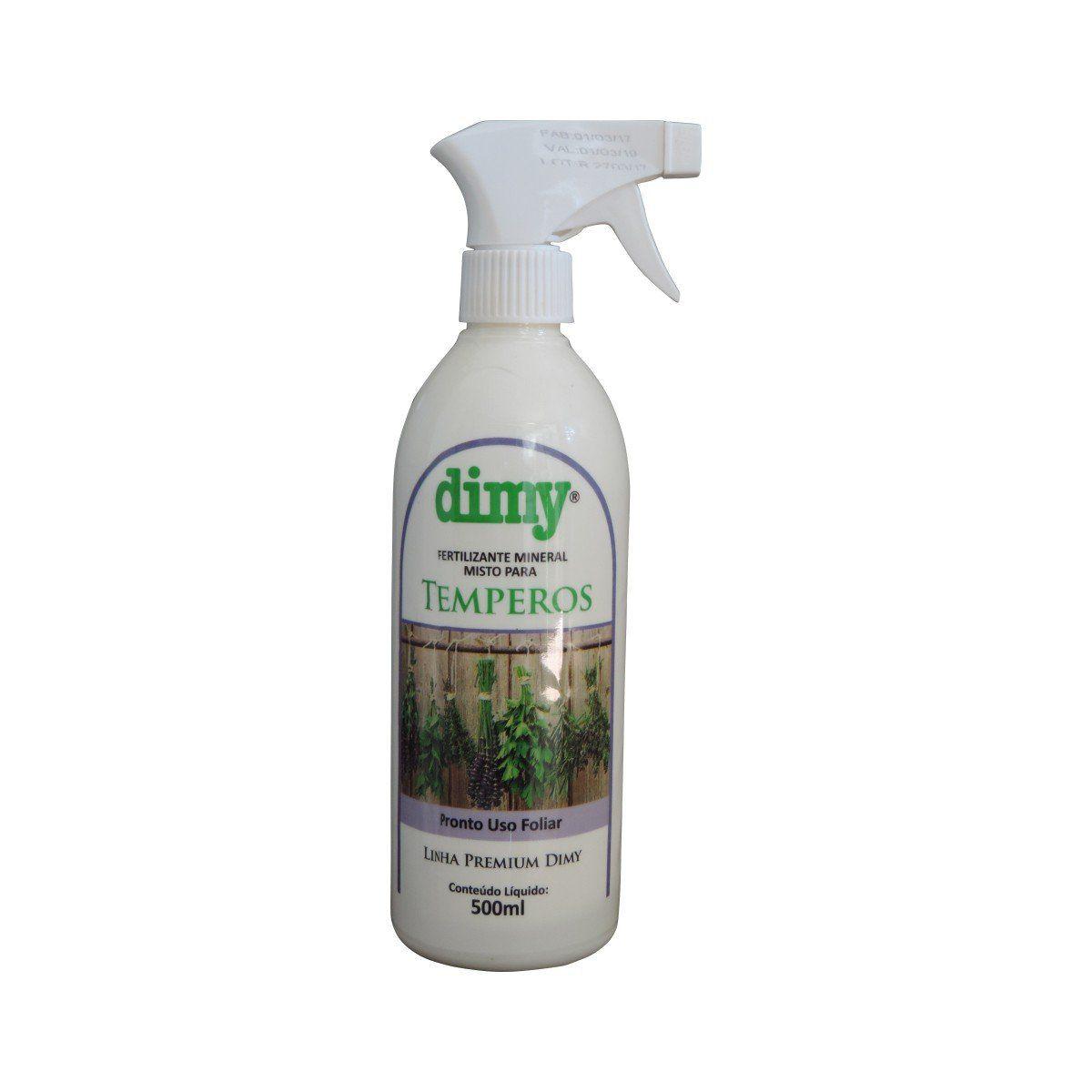 Fertilizante Mineral Misto para Temperos Pronto Uso 500ml Dimy