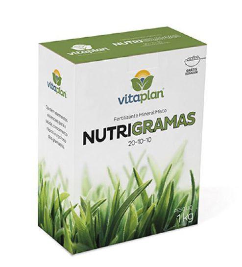 Fertilizante Nutrigramas 20-10-10 1 kg Vitaplan - Grátis dosador!