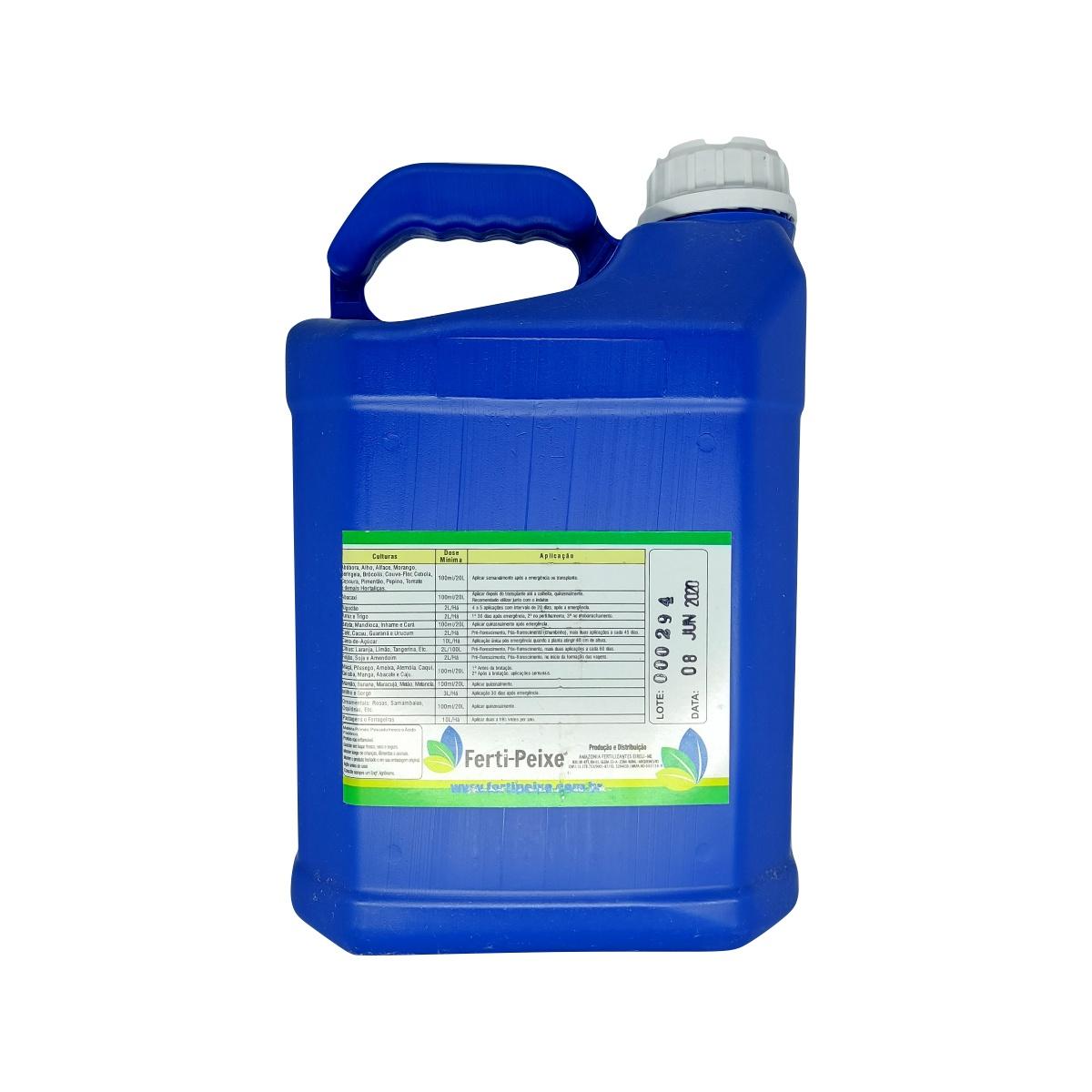 Fertilizante Orgânico Classe A (via foliar) 5 litros - Ferti-Peixe